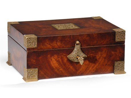 Jonathan Charles Buckingham Medium Antique Mahogany Jewelry Box