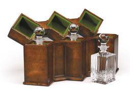 Jonathan Charles Windsor Medium Walnut Storage Case