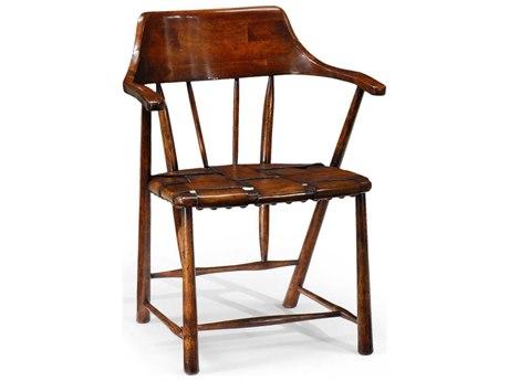 Jonathan Charles Country Farmhouse Medium Walnut Accent Chair