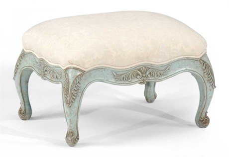 Jonathan Charles Country Farmhouse Painted Green Footstool