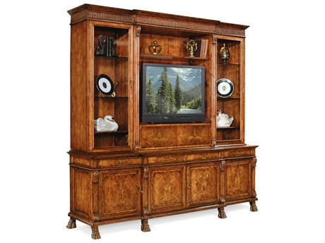 Jonathan Charles Windsor Medium Crotch Walnut Media Cabinet