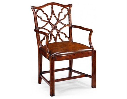 Jonathan Charles Buckingham Medium Antique Mahogany Dining Chair
