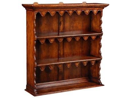 Jonathan Charles Country Farmhouse Medium Walnut 43.5 x 11.75 Bookcase