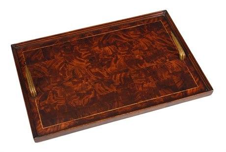 Jonathan Charles Buckingham Medium Antique Mahogany Serving Tray