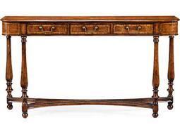 Jonathan Charles Windsor Medium Crotch Walnut 64.5 x 14 Rectangular Console Table