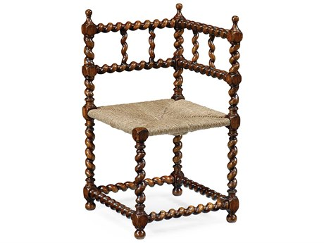 Jonathan Charles Country Farmhouse Medium Walnut Accent Chair