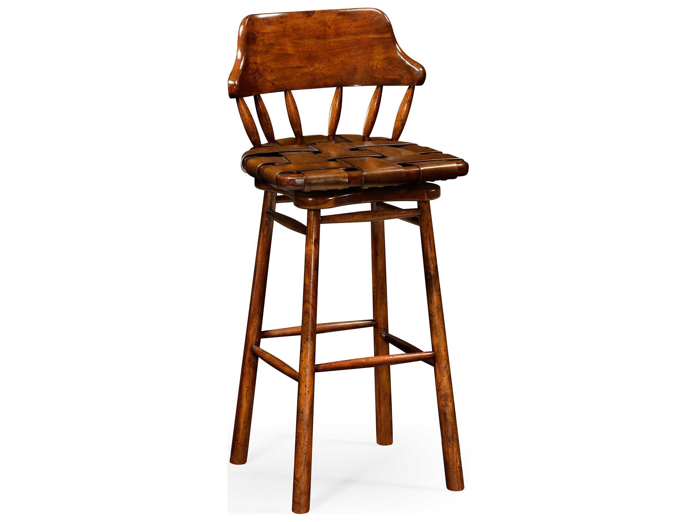 Jonathan charles country farmhouse medium walnut bar stool