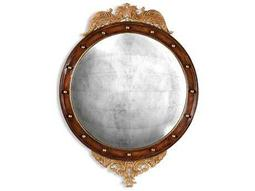 Jonathan Charles Windsor 35 x 48 Light Antique Gold-Leaf Wall Mirror