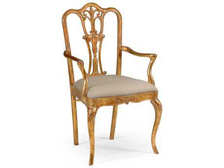 Jonathan Charles Versailles Medium Figure Walnut Dining Chair