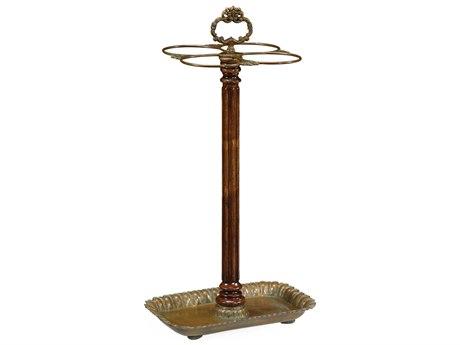 Jonathan Charles Buckingham Medium Walnut Umbrella Stand Rack