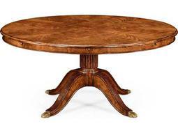 Jonathan Charles Windsor Medium Crotch Walnut 66'' Round Dining Table with Storage Cabinet