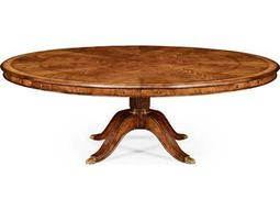 Jonathan Charles Windsor Medium Crotch Walnut 66 Round Dining Table