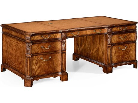 Jonathan Charles Windsor Medium Crotch Walnut Executive Desk