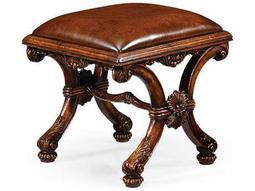 Jonathan Charles Windsor Medium Walnut Footstool