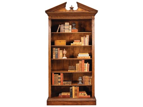 Jonathan Charles Windsor Medium Walnut 48 x 19.75 Bookcase