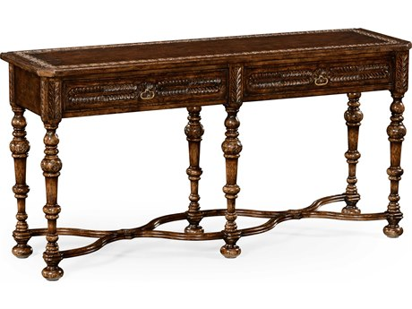 Jonathan Charles Tudor Oak Dark Brown Tudor Oak 63.5 x 18 Rectangular Console Table