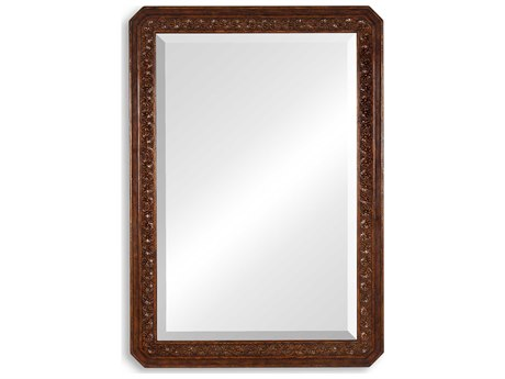 Jonathan Charles Tudor 33 x 47 Oak Light Natural Oak Wall Mirror