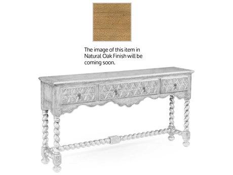 Jonathan Charles Natural Oak Light Natural Oak 66 x 14 Rectangular Console Table