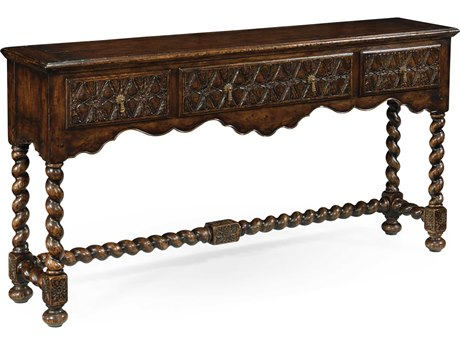 Jonathan Charles Tudor Oak Dark Brown Tudor Oak 66 x 14 Rectangular Console Table