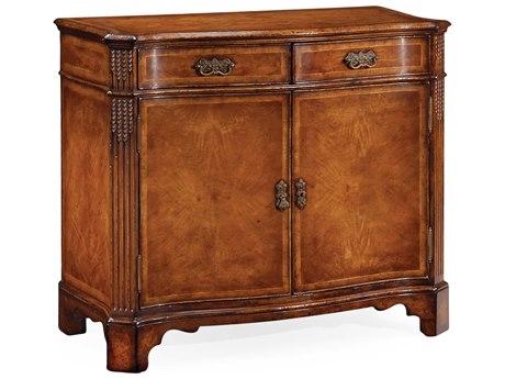 Jonathan Charles Windsor Medium Crotch Walnut Console Cabinet