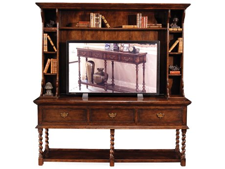 Jonathan Charles Country Farmhouse Dark Walnut Media Cabinet