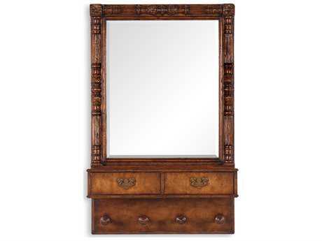 Jonathan Charles Country Farmhouse 29 x 45 Medium Walnut Dresser Mirror