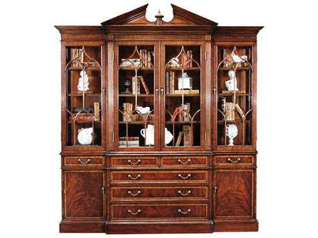 Jonathan Charles Buckingham Medium Antique Mahogany China Cabinet