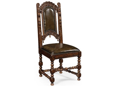 Jonathan Charles Tudor Oak Dark Brown Tudor Oak Dining Chair