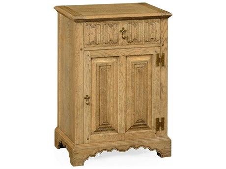 Jonathan Charles Natural Oak Light Natural Oak Console Cabinet
