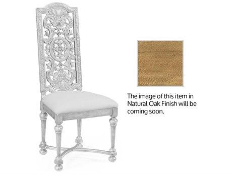 Jonathan Charles Natural Oak Dark Brown Tudor Oak Accent Chair
