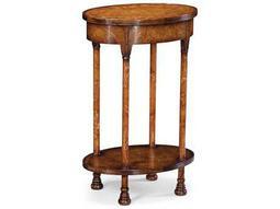 Jonathan Charles Windsor Medium Figure Walnut 17.75 x 12.5 Oval End Table