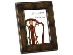 Jonathan Charles Windsor Medium English Library Green Leather Picture Frame