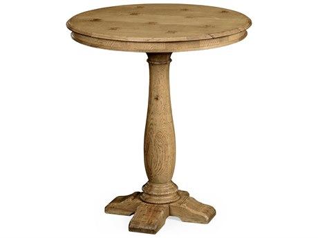 Jonathan Charles Natural Oak Light Natural Oak 36 Round Bar Dining Table