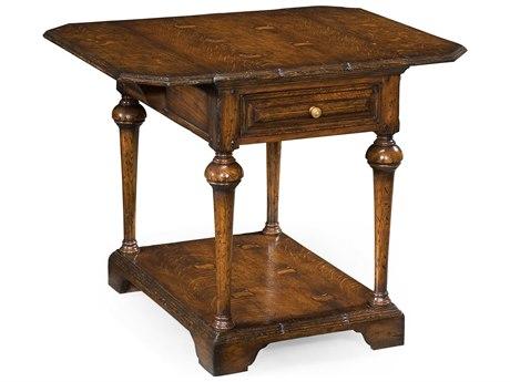Jonathan Charles Tudor Oak Dark Brown Tudor Oak 20.5 x 28 Rectangular End Table