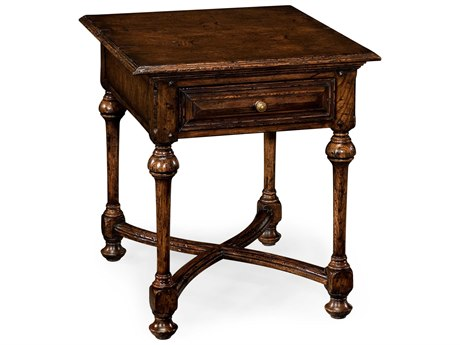 Jonathan Charles Tudor Oak Dark Brown Tudor Oak 22 Square End Table