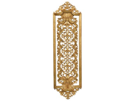 Jonathan Charles Versailles collection Light Antique Gold-Leaf With Carved Floral Detail Wood Wall Art