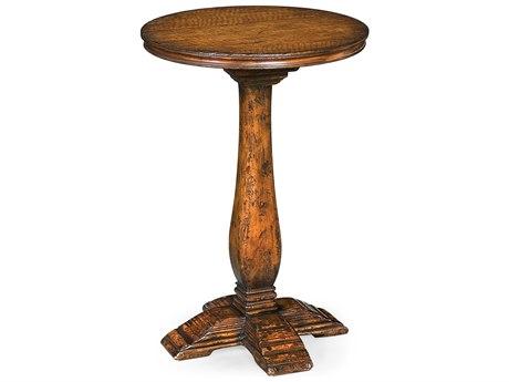 Jonathan Charles Huntingdon Medium Figured Walnut 18 Round Pedestal Table