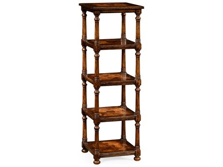 Jonathan Charles Huntingdon Medium Walnut Country Distressed Etagere Rack