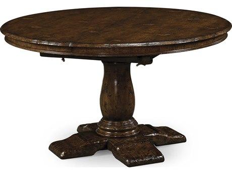 Jonathan Charles Tudor Oak Dark Brown Tudor Oak 54 Round Dining Table
