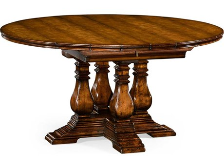 Jonathan Charles Huntingdon collection Figured Walnut Medium Casual Dining Table