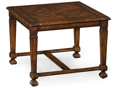 Jonathan Charles Country Farmhouse Medium Figured Walnut 54 x 30 Rectangular Coffee Table