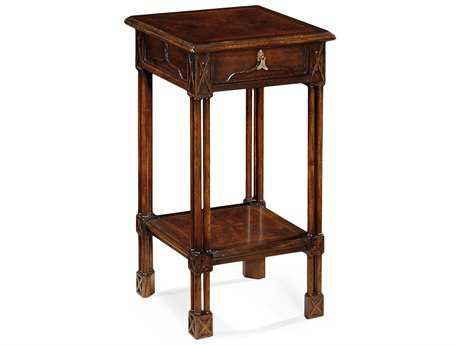 Jonathan Charles Tribeca Dark American Crotch Walnut 15 Square End Table