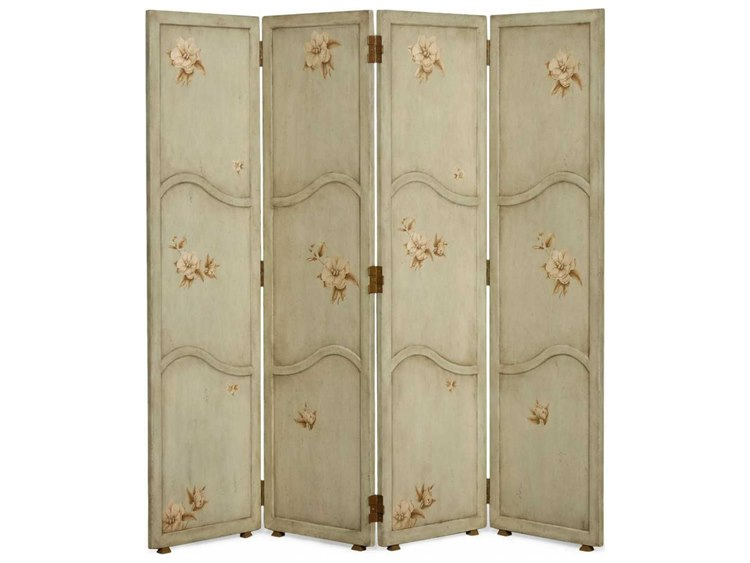 Jonathan Charles Country Farmhouse Painted Antique Olive Floral Four