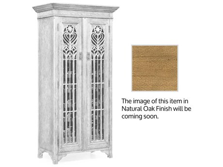 Jonathan Charles Natural Oak Light Natural Oak Tower Cabinet