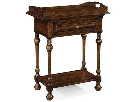 Jonathan Charles Tudor Oak Dark Brown Tudor Oak 30 x 16 Rectangular Console Table