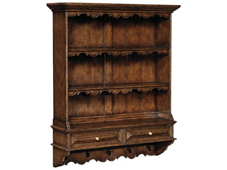 Jonathan Charles Tudor Oak Dark Brown Tudor Oak 46 x 12.75 Bookcase