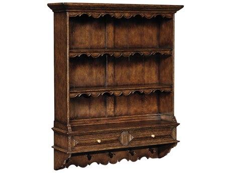 Jonathan Charles Tudor Oak Dark Brown Tudor Oak 46 x 12.75 Bookcase