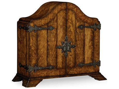 Jonathan Charles Country Farmhouse Heavy Distressed Crotch Walnut Chest Cabinet