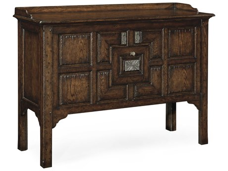 Jonathan Charles Tudor Oak Dark Brown Tudor Oak Console Cabinet