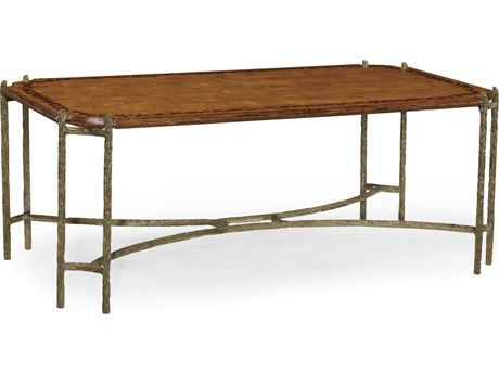 Jonathan Charles Dunes Light Walnut 52 x 30 Rectangular Coffee Table
